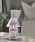 Preview: Yankee Candle Savoy Purple Crackle Glas großer Schirm+Teller
