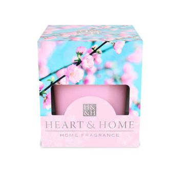 Heart & Home Pink Flower Votivkerze 52g