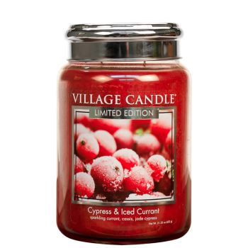 Village Candle Cypress and Iced Currant 602g