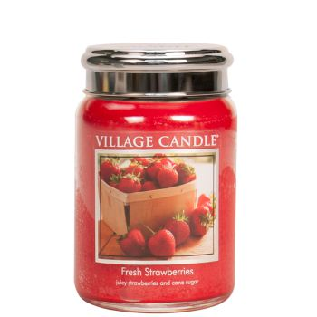 Village Candle Fresh Strawberries 602g