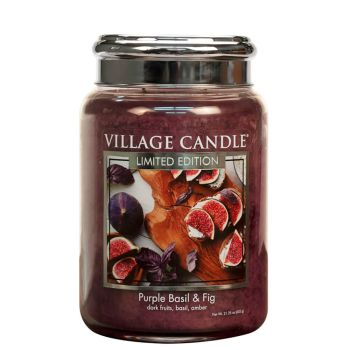 Village Candle Purple Basil and Fig 602g