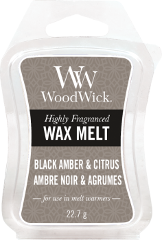 WoodWick Black Amber & Citrus Melt