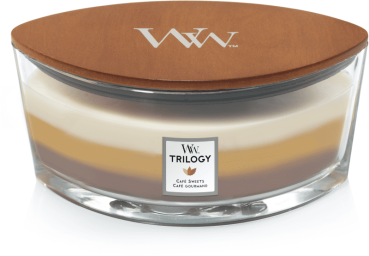 WoodWick Trilogy Cafe Sweets Ellipse 454g