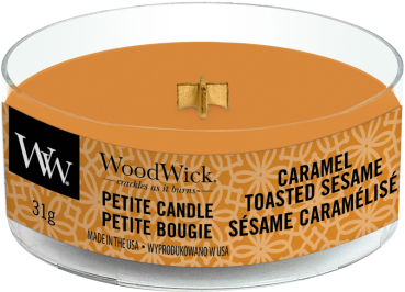 WoodWick Caramel Toasted Sesame Petite Candle
