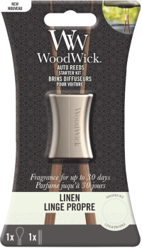 WoodWick Linen Auto Reed Diffuser Starter Kit
