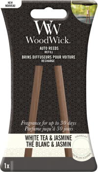 White Tea & Jasmine Car Reed Diffuser Nachfüllpackung WoodWick