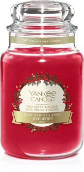Yankee Candle Red Berry and Cedar 623g (2000`s) 50th Anniversary