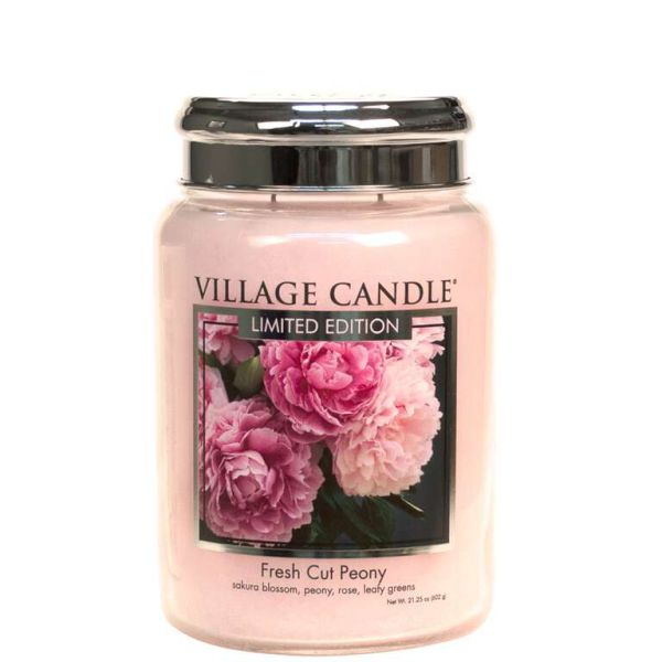 Village Candle Fresh Cut Peony TRADITION 602g Kerze