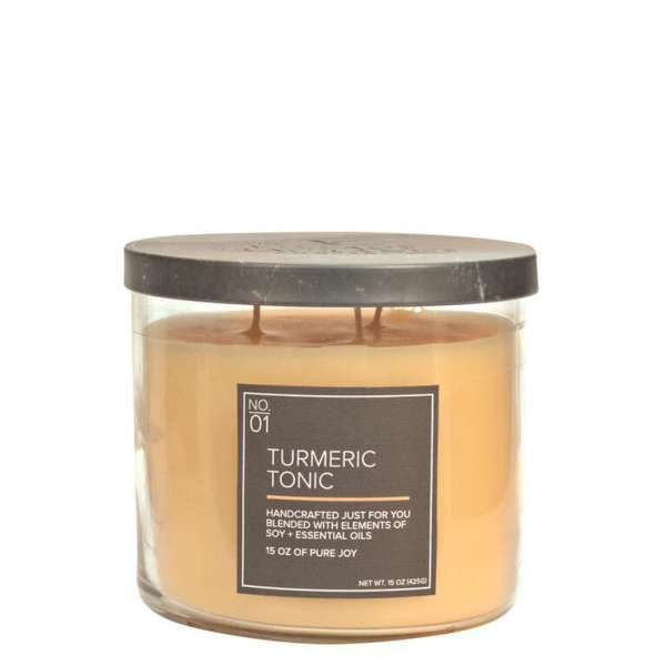 Village Candle Natural Bowl Tumeric Tonic 425g Kerze