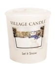 Village Candle Let It Snow Votivkerze